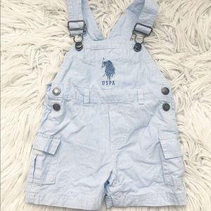 POLO Ralph Lauren Boys Blue overalls 6/9 M